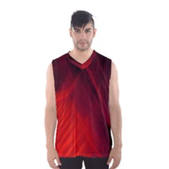 Red Abstract Men s Basketball Tank Top