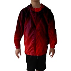 Red Abstract Hooded Wind Breaker (kids)
