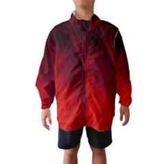 Red Abstract Wind Breaker (Kids)