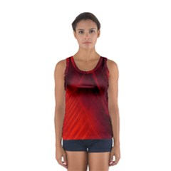 Red Abstract Tops