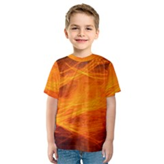 Orange Wonder Kid s Sport Mesh Tee