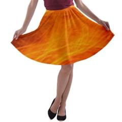 Orange Wonder A Line Skater Skirt