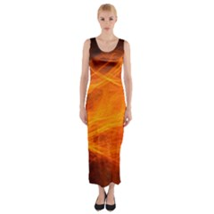 Orange Wonder Fitted Maxi Dress