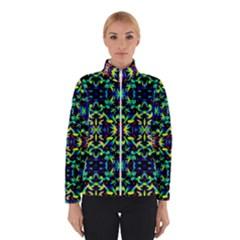 Cool Green Blue Yellow Design Winter Jacket