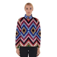 Colorful Diamond Crochet Winter Jacket