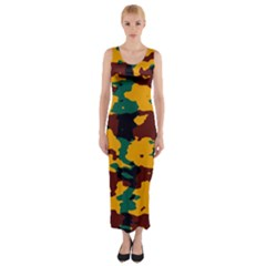 Camo texture Fitted Maxi Dress