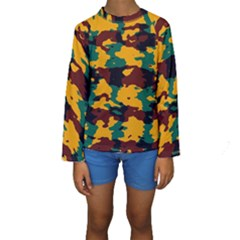 Camo texture  Kid s Long Sleeve Swimwear