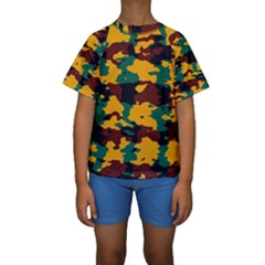 Camo Texture  Kid s Short Sleeve Swimwear