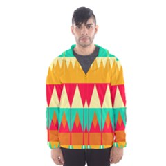 Triangles And Other Retro Colors Shapes Mesh Lined Wind Breaker (men)