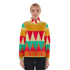 Triangles and other retro colors shapes Winter Jacket