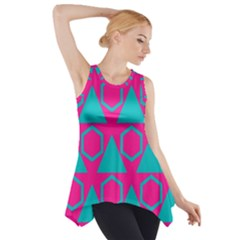 Triangles and honeycombs pattern Side Drop Tank Tunic