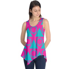Triangles and honeycombs pattern Sleeveless Tunic