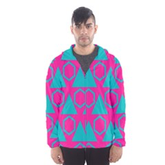 Triangles and honeycombs pattern Mesh Lined Wind Breaker (Men)