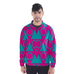 Triangles And Honeycombs Pattern Wind Breaker (men)