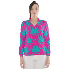 Triangles and honeycombs pattern Wind Breaker (Women)