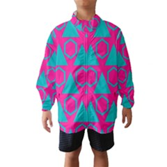 Triangles and honeycombs pattern Wind Breaker (Kids)