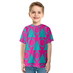 Triangles and honeycombs pattern Kid s Sport Mesh Tee