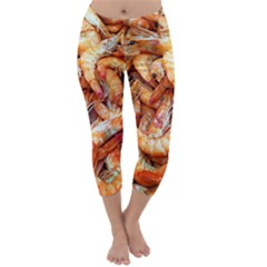 Shrimp Design Ignatius Rake Capri Winter Leggings