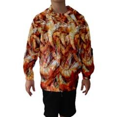 Shrimp Design Ignatius Rake Hooded Wind Breaker (Kids)