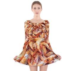 Shrimp Design Ignatius Rake Long Sleeve Velvet Skater Dress