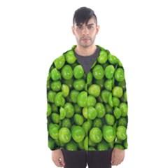 Peas Rule By Ignatius Rake Hooded Wind Breaker (Men)