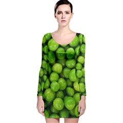 Peas Rule By Ignatius Rake Long Sleeve Velvet Bodycon Dress
