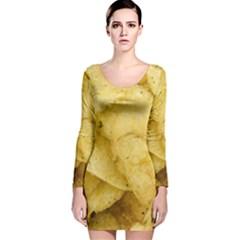 Crisps By Sandi Long Sleeve Velvet Bodycon Dress