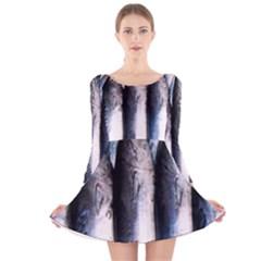 Fish Detail By Sandi Long Sleeve Velvet Skater Dress