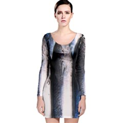 Fish Detail By Sandi Long Sleeve Velvet Bodycon Dress