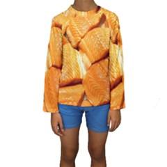Salmon By Sandi Kid s Long Sleeve Swimwear
