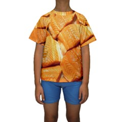 Salmon By Sandi Kid s Short Sleeve Swimwear