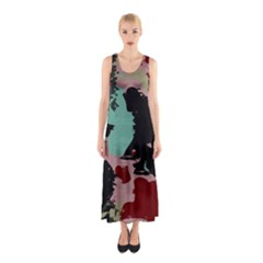 Retro colors texture Full Print Maxi Dress