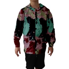Retro colors texture Hooded Wind Breaker (Kids)