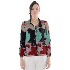 Retro colors texture Wind Breaker (Women)