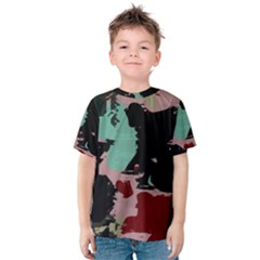 Retro Colors Texture Kid s Cotton Tee