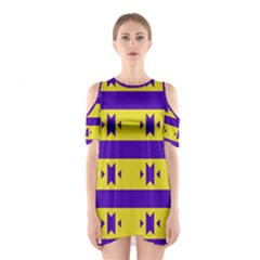 Tribal shapes and stripes Women s Cutout Shoulder Dress