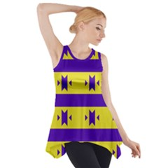Tribal shapes and stripes Side Drop Tank Tunic