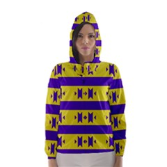 Tribal shapes and stripes Hooded Wind Breaker (Women)