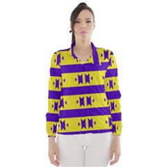Tribal Shapes And Stripes Wind Breaker (women)