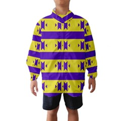 Tribal shapes and stripes Wind Breaker (Kids)