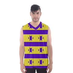 Tribal shapes and stripes Men s Basketball Tank Top