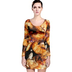 Chicken By Sandi Long Sleeve Velvet Bodycon Dress