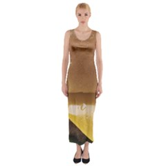 Burger By Sandi Fitted Maxi Dress
