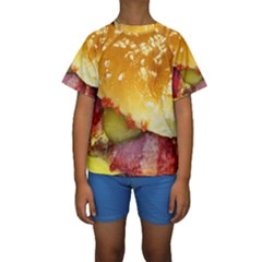 Bacon Burger By Sandi Kid s Short Sleeve Swimwear
