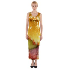 Bacon Burger By Sandi Fitted Maxi Dress