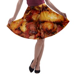Tetters And Meat By Sandi A-line Skater Skirt