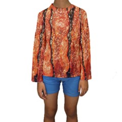 Bacon Cooking By Sandi Kid s Long Sleeve Swimwear
