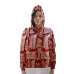 Bacon Lattice By Sandi Hooded Wind Breaker (Women)