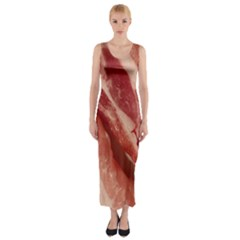 Bacon Rashers By Sandi Fitted Maxi Dress