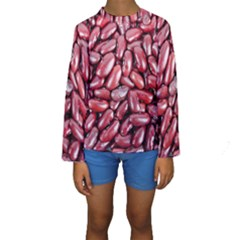 Kidney Beans By Sandi Kid s Long Sleeve Swimwear